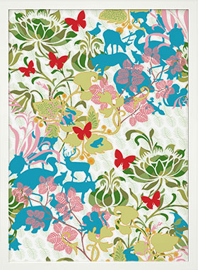 animalflowers wallpaper posters by hanna werning