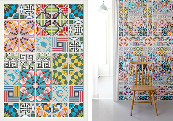 Tiles Wallpaper Posters By Hanna Werning